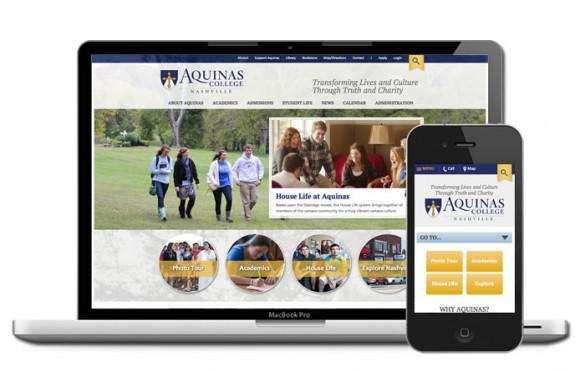 Aquinas College website designer
