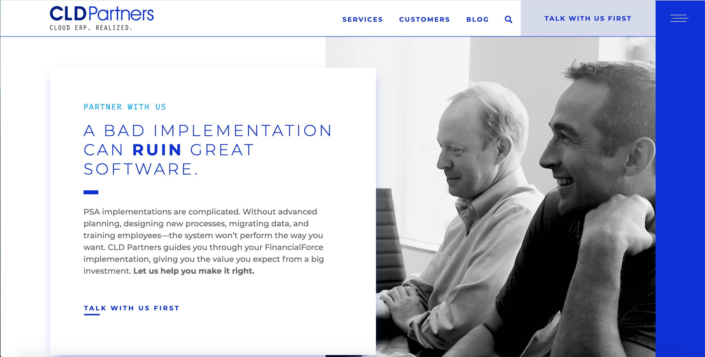 CLD Partners redesigned website
