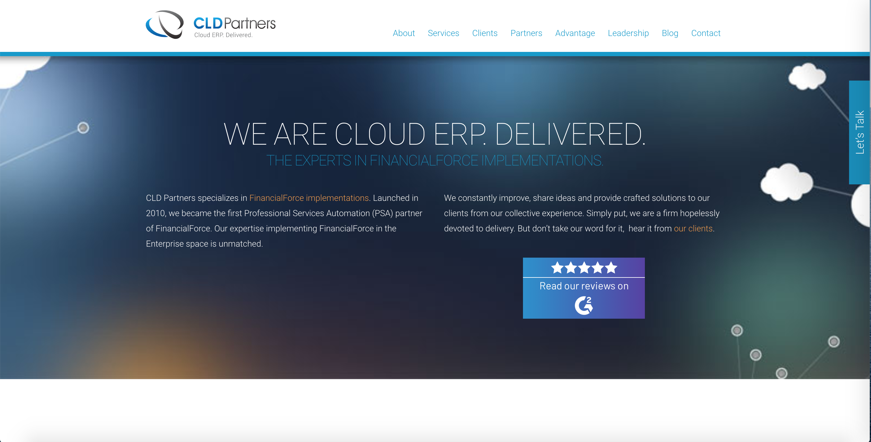 CLD Partners website before hiring us as a Cincinnati Web Design agency
