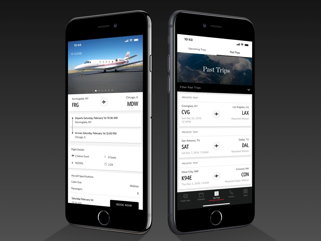 Image of DPJ app screens on 2 iPhones.