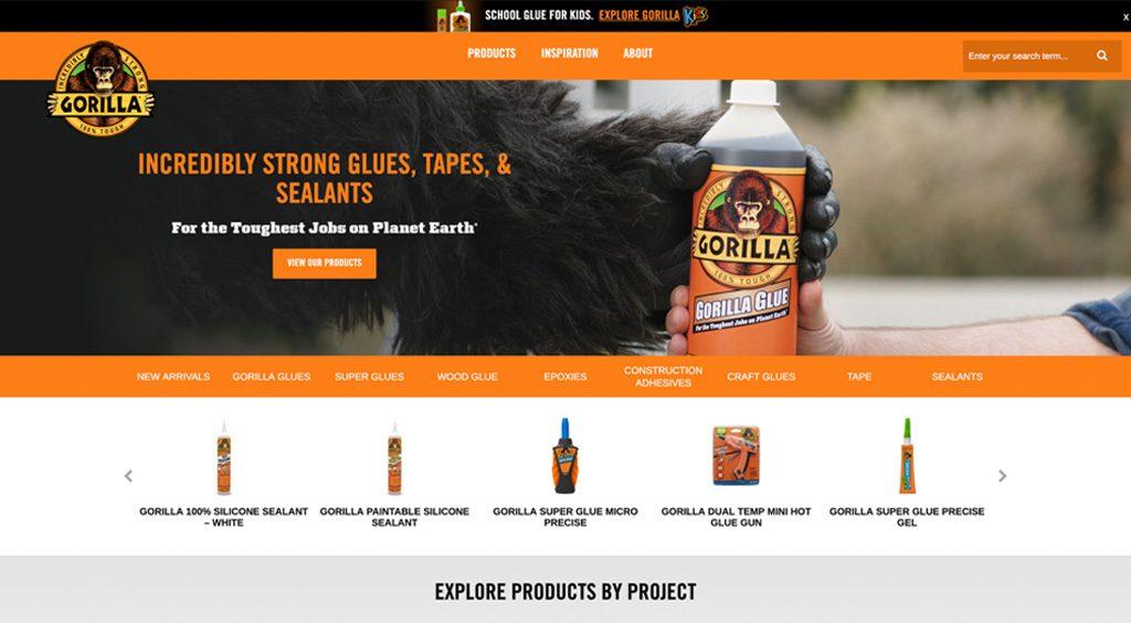 Gorilla Glue website