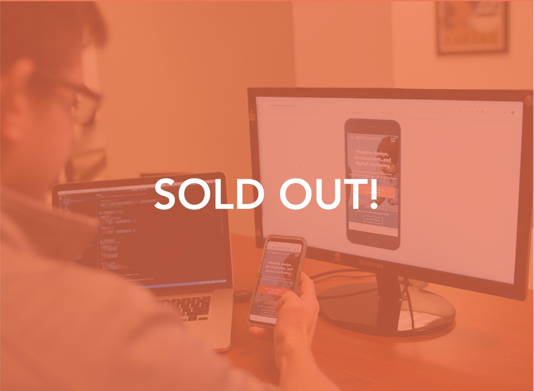 Sold out image - Cincinnati Web Design