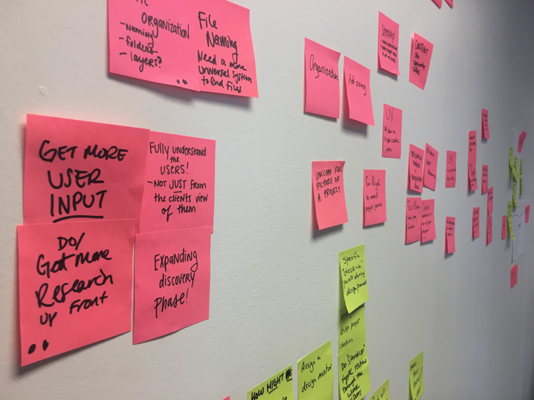 Sticky Notes from Brainstorming