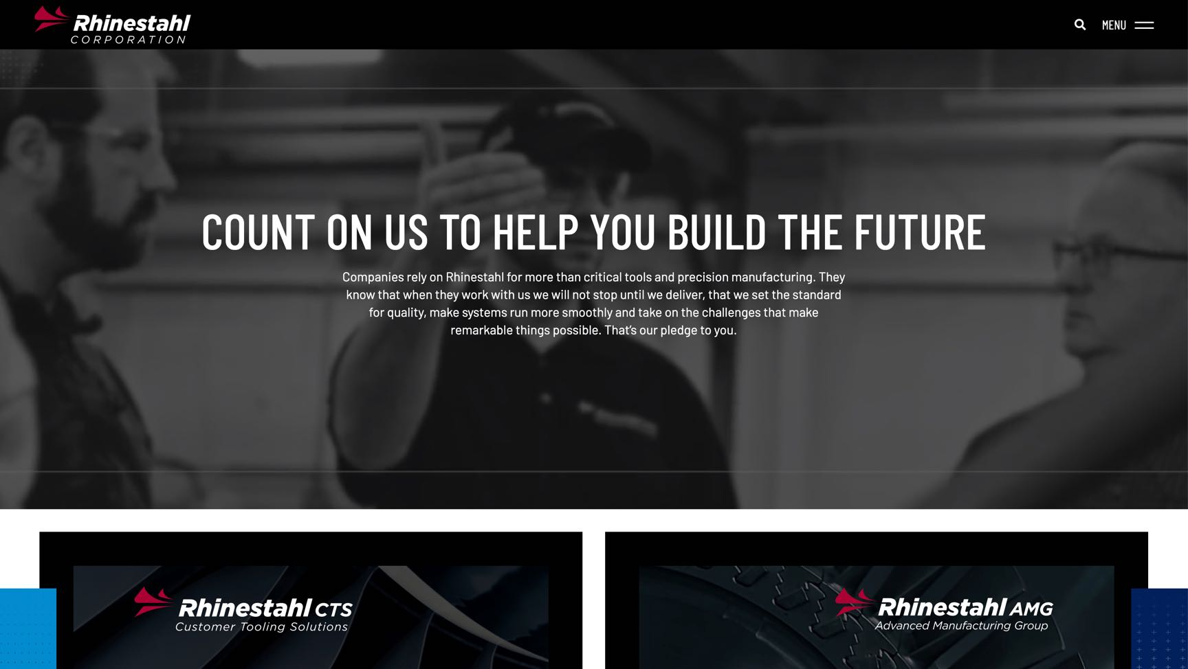 Rhinestahl desktop website