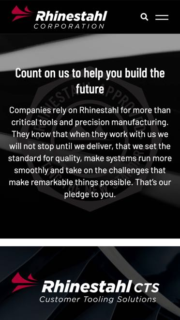 Rhinestahl mobile website