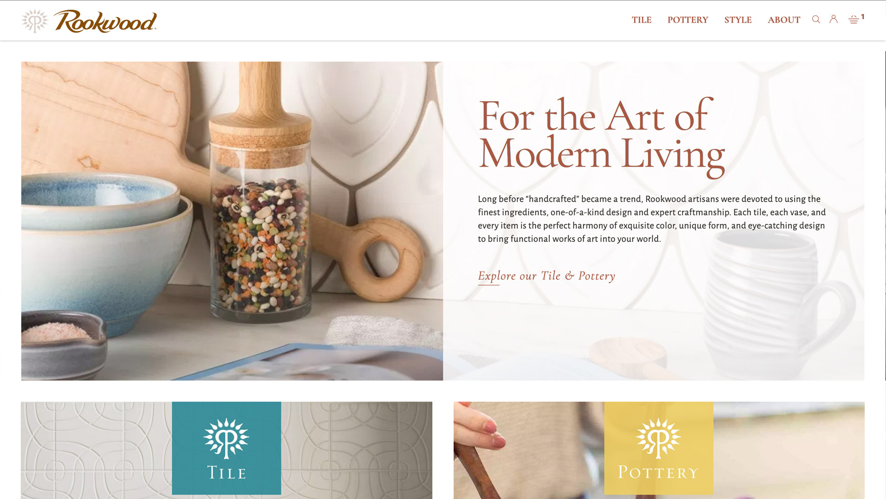 Rookwood website on desktop
