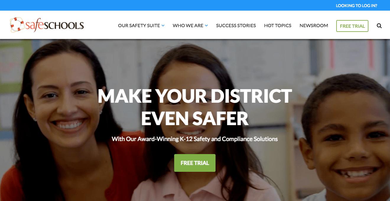 SafeSchools perfect website example