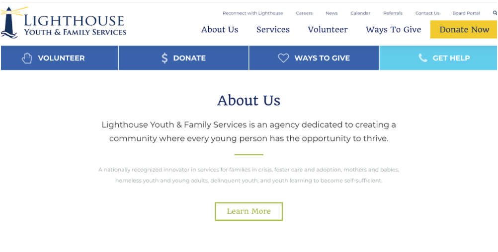 Lighthouse Youth and Family Services homepage