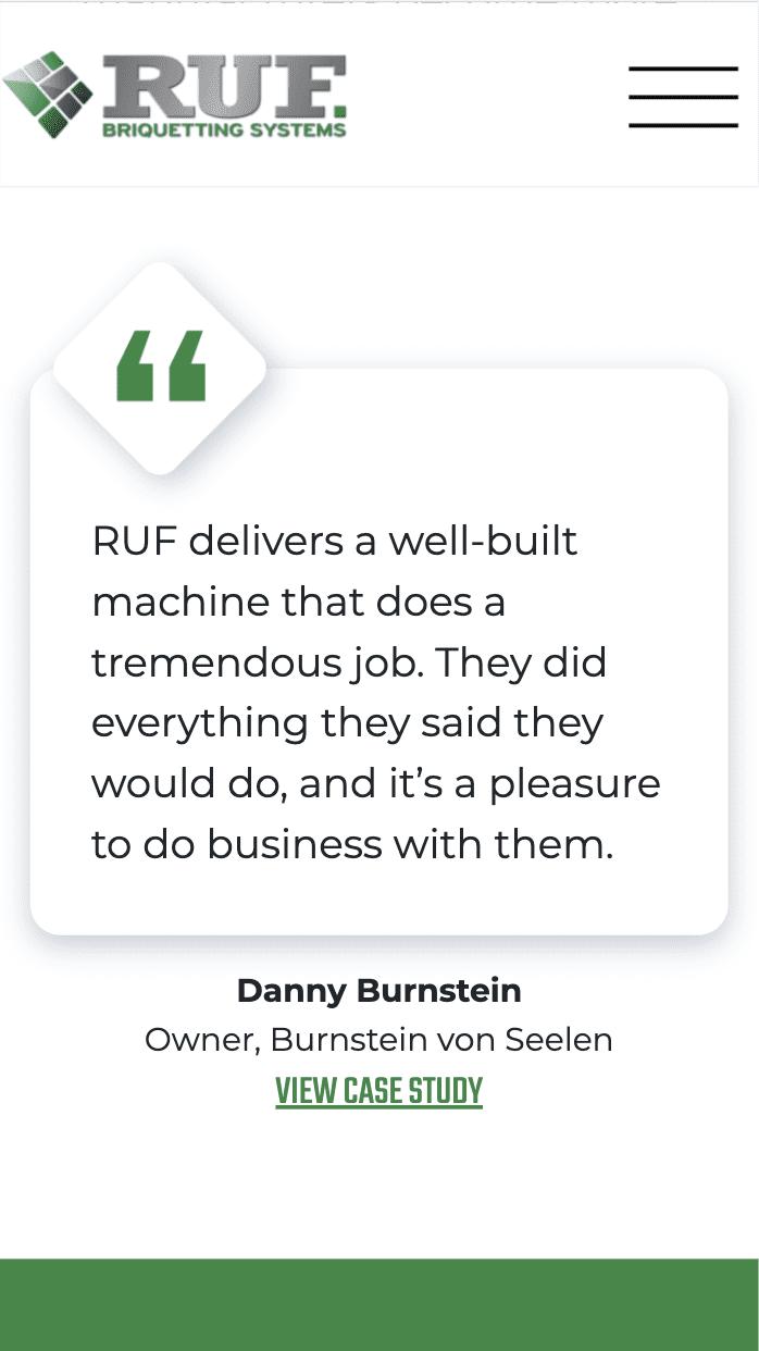 RUF Briquetting mobile site