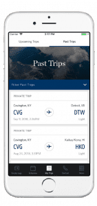 Delta Private Jets App Screenshot