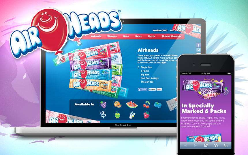 Airheads responsive website design