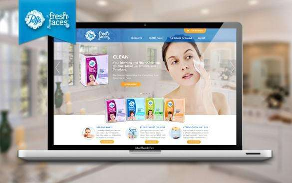 Puffs Fresh Faces responsive mobiel website design
