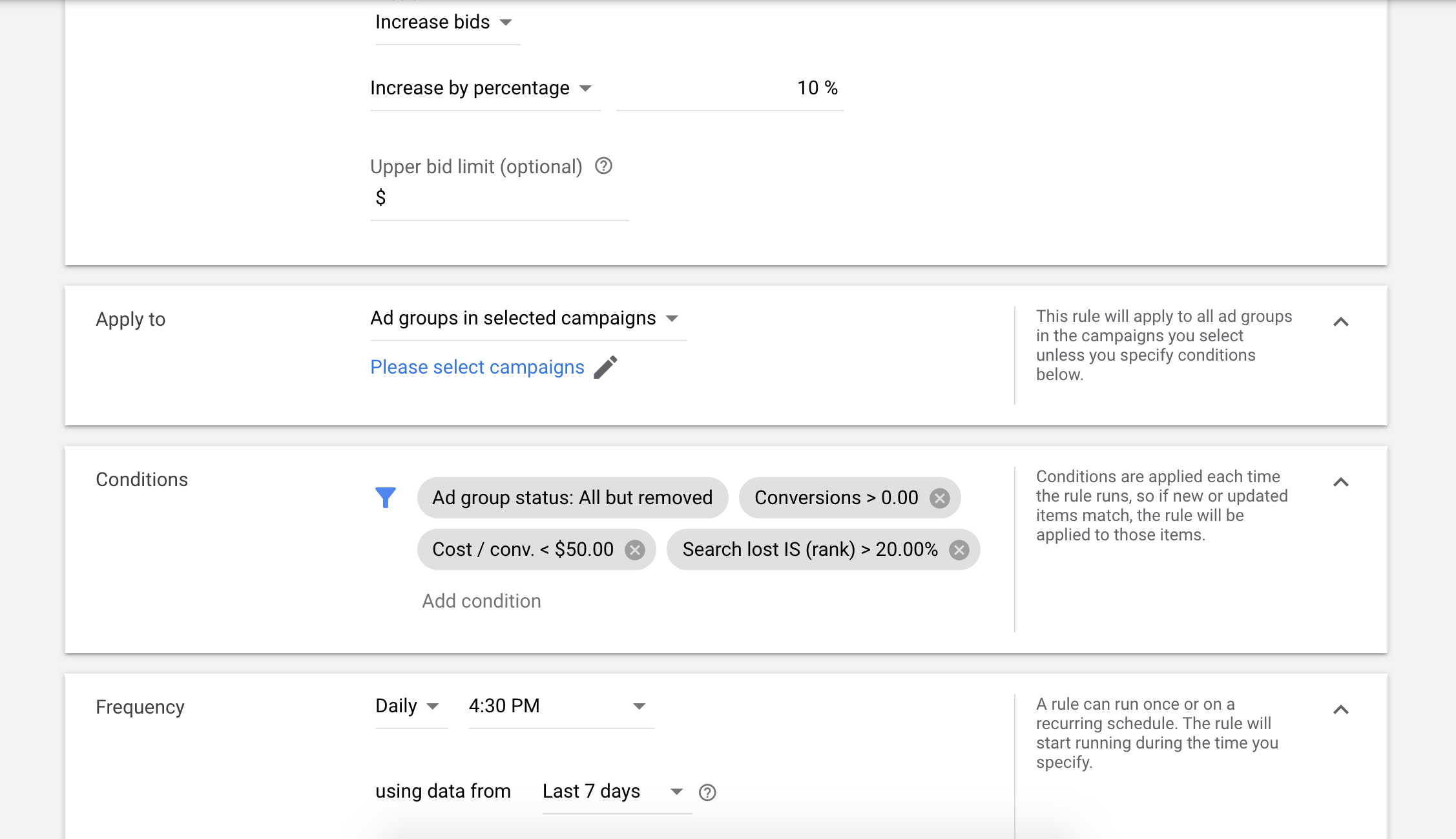 never adjusting bids in Google Ads is a common SEM mistake