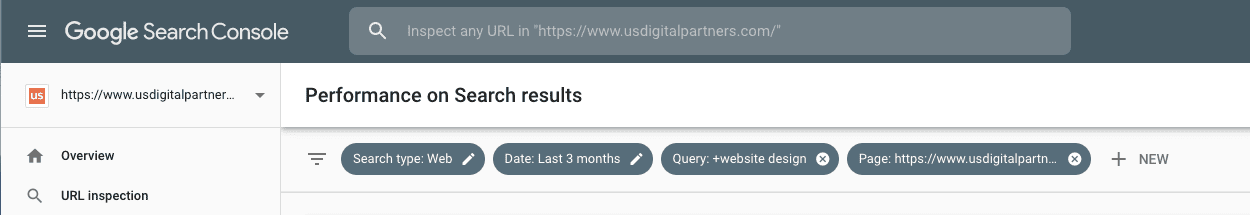 Advanced filtering in Google Search Console