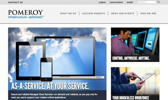 Pomeroy adaptive website design