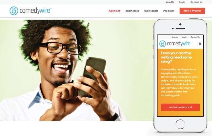 comedywire web design handiwork