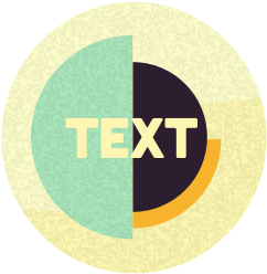 "A graphic of the word ""text."""
