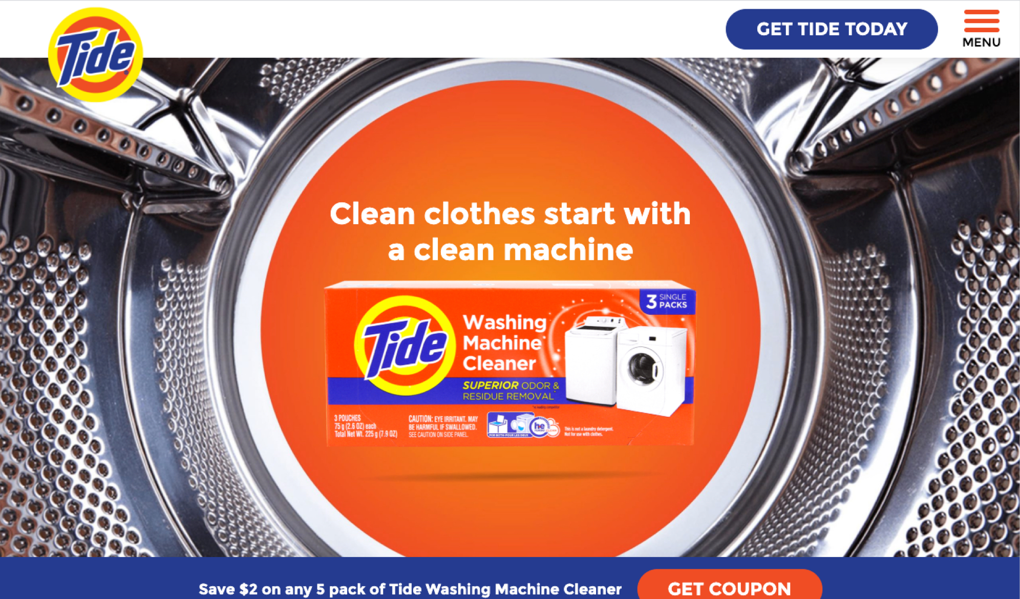 Tide homepage hero