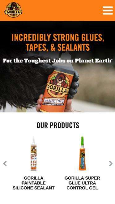 Gorilla Glue mobile image of products