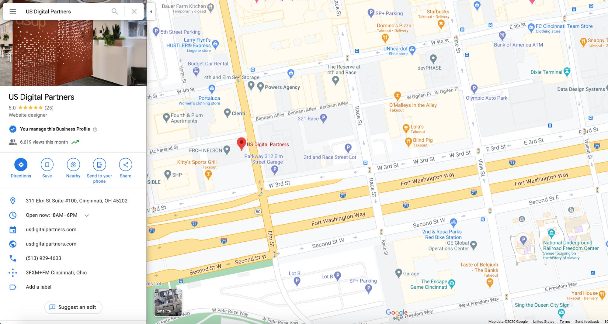 usdp google my business listing on google maps