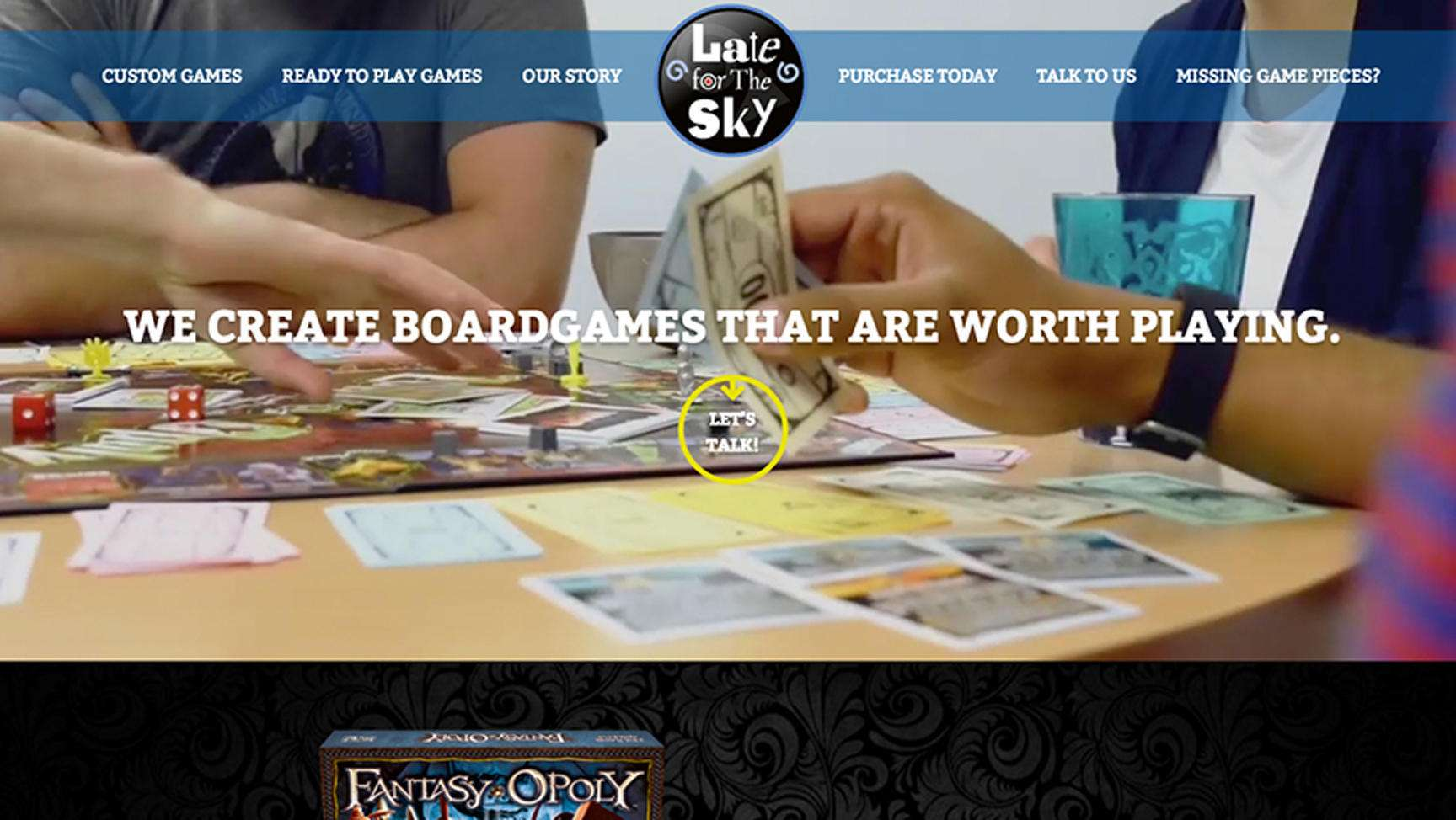 Late For The Sky US Digital Partners - Digital board game table
