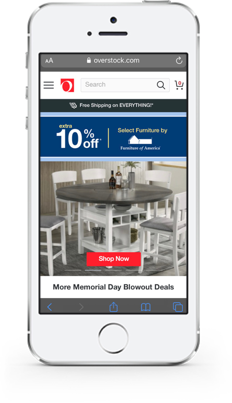 Overstock.com mobile screenshot