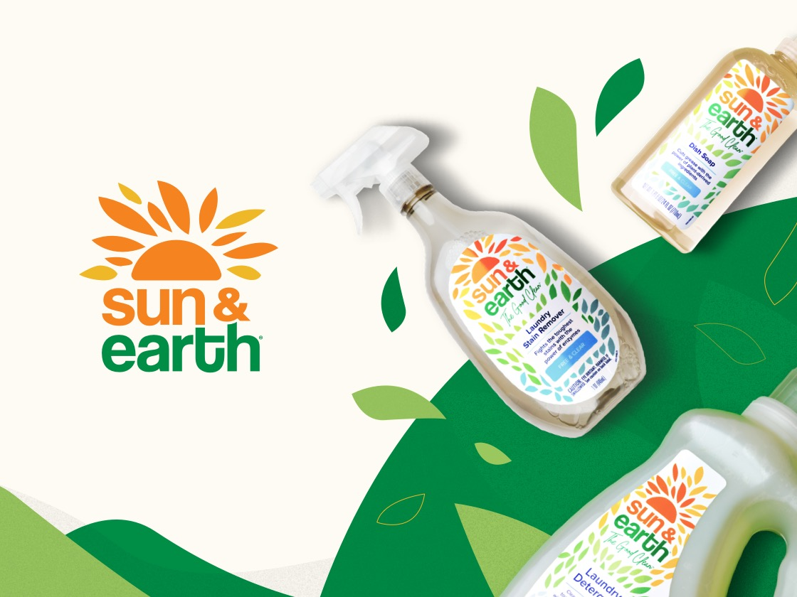 Sun & Earth logo and products