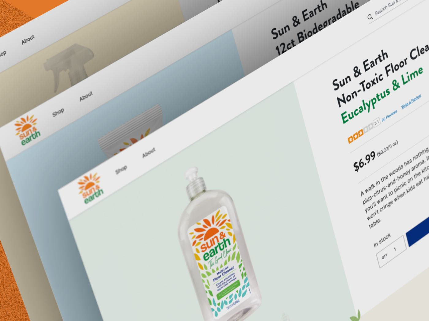 Sun & Earth redesigned product pages