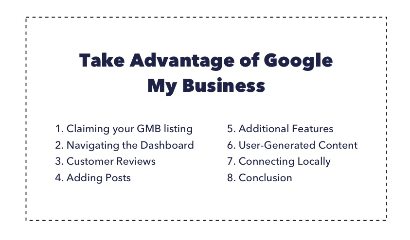 Take advantage of google my business table of contents