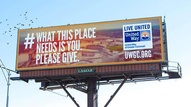 United Way billboard design
